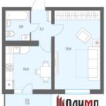 Однокомнатная квартира 38,2 кв.м