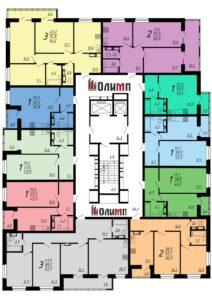 Планировка квартир в ЖК Современник, корпус 7, этажи с 2 по 6